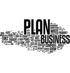 Ten tips to jump start your business plan text vector