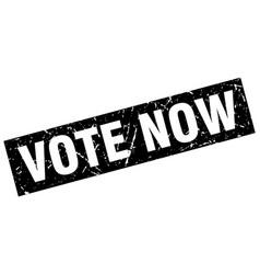 Square grunge black vote now stamp vector