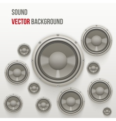 Sound load speakers on light background vector