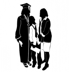 Graduate with family vector