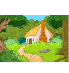 Cartoon forest cabin vector