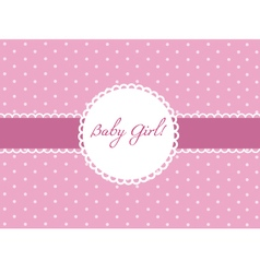 Baby girl card design vector
