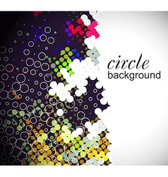 Circle pattern background vector