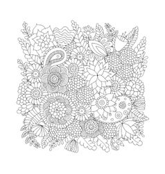 Doodle pattern black and white vector
