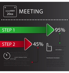 Business infographic - design template vector
