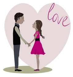 Love story three vector