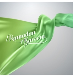 Ramadan kareem retro label vector