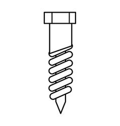 Nut tool icon construction and repair design vector