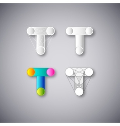 Abstract Combination of Letter T vector image vector image