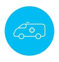 Ambulance car line icon vector image vector image