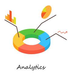 analytics icon isometric 3d style vector image