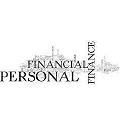 Basic tips on personal finance text word cloud vector