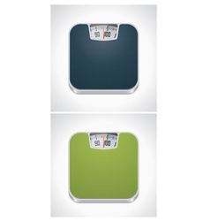 Bathroom weight scale vector