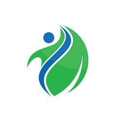 Beauty happy leaf logo image vector