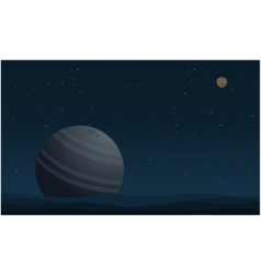 Beauty landscape outer space with planet vector