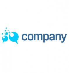 Bubbles logo vector