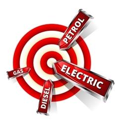 Car fuel achieve objectives eco concept vector