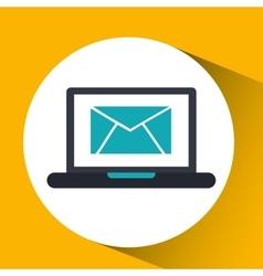 Cloud computing email social media virtual icon vector