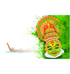 Colorful kathakali face vector