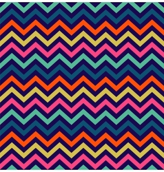 Colorful zigzag seamless pattern vector image vector image