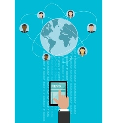 Creative global networking concept design vector image vector image