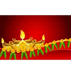 Diwali Diya vector image vector image