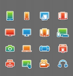 Full color device symbol icon set vector image vector image