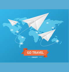 go travel concept vector image vector image