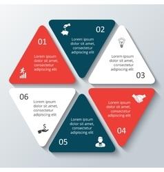 Hexagon infographic vector