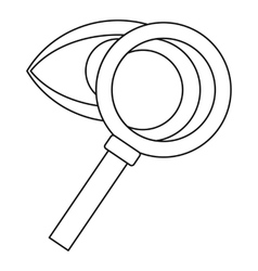 Magnifying glass and eye icon outline style vector
