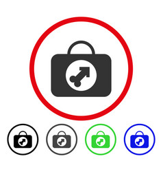 Male erection case rounded icon vector