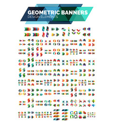 Mega collection of geometric abstract banner vector