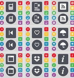 Mobile phone smartphone rss media skip heart vector