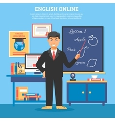 Online education training vector