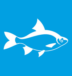 River fish icon white vector