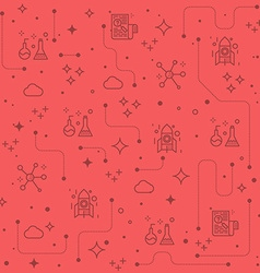Science line icons background vector image vector image