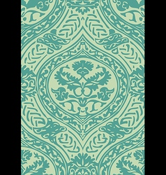 Seamless floral antique pattern blue light vector