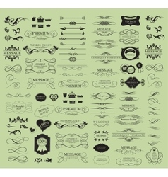 Set of calligraphic elements for design vector image vector image