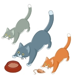 Set of playing cats vector image vector image