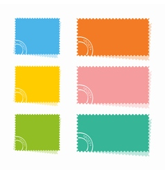 Set of the colorful post cards vector image vector image