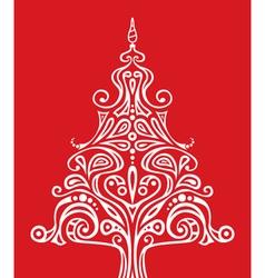 Shape of christmas tree vector