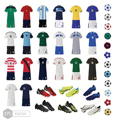Soccer teams uniform vector image