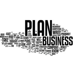 Ten tips to jump start your business plan text vector