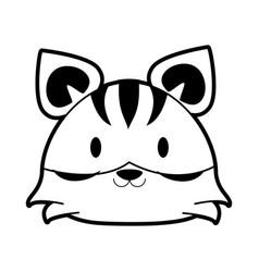 tiger cute animal cartoon icon image vector image