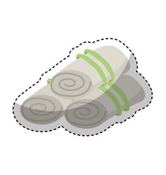 Towels set spa icon vector