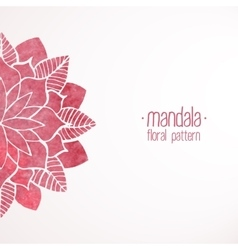 Watercolor pink flower pattern vector
