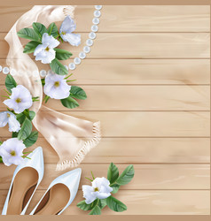 Wedding floral background vector