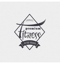 Fitness - badges lettering calligraphy is vector