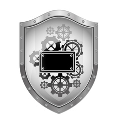 Badge security symbol vector
