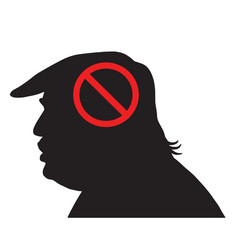 donald trump silhouette with anti sign vector image
